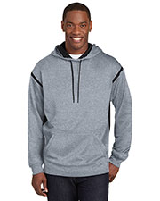 Sport-Tek® F246 Men Tech Fleece Colorblock Hooded Sweatshirt at GotApparel