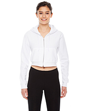 Custom Embroidered American Apparel F397W Ladies 8.2 oz Cropped Flex Fleece Zip Hoodie at GotApparel