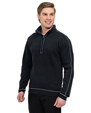 TRI-MOUNTAIN GOLD F692 Men Cambridge 1/4 Zip Pullover With On Seam Pockets Rib Cuff & Bottom at GotApparel