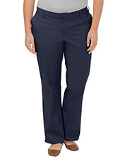 Dickies FPW221 Women Plus Size Premium Relaxed Fit Straight Leg Flat Front Pant at GotApparel