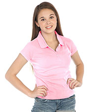 Big Girls 7-16 Polo Short Sleeve Top at GotApparel