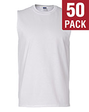 Gildan G270 Men Ultra Cotton 6 Oz. Sleeveless T-Shirt 50-Pack at GotApparel