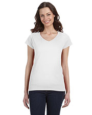 Gildan G64VL Women SoftStyle 4.5 oz. Fit V-Neck TShirt at GotApparel