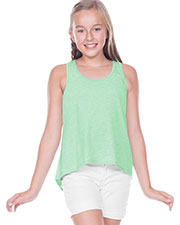 Big Girls 7-16 Jersey Scoop Neck High Low Tank at GotApparel