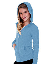 Big Girls 7-16 Jersey Long Sleeve Zip Up Hoodie at GotApparel