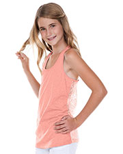 Big Girls 7-16 Jersey Scoop Neck Lace Racer Back Tank at GotApparel
