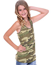 Big Girls 7-16 Camouflage Racer Back Tank at GotApparel