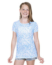 Girls 7-16  Static Jersey Print Crew Neck Short Sleeve at GotApparel