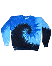 Tie-Dye H8100 Men 8.5 oz 80/20 crew neck fleece at GotApparel