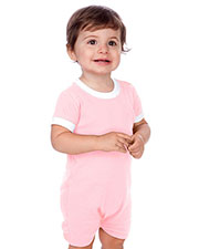 Unisex Infants Scoop Neck Short Sleeve Romper at GotApparel