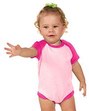 Unisex Infants Raglan Short Sleeve Bodysuit (Same I1P0508) at GotApparel