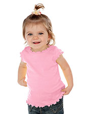Infants Lettuce Edge Scoop Neck Cap Sleeve Top at GotApparel