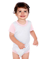 Unisex Infants Crew Neck Color Block Onesie at GotApparel
