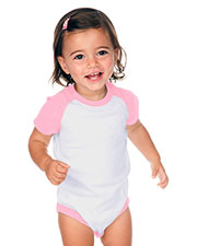 Unisex Infants Raglan Short Sleeve Bodysuit (Same I1C0190) at GotApparel