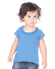 Infants Lettuce Edge Ruffles High Low Short Sleeve Top at GotApparel