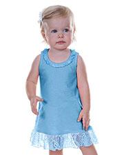 Infants Lace Trim A-Line Tank Dress at GotApparel