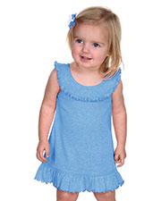 Infants Girls Ruffle Collar Tank Dress at GotApparel