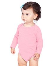 Unisex Infants Interlock Lap Shoulder Long Sleeve Bodysuit at GotApparel