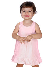 Infants Double Raw Edge Tiered Tank Dress at GotApparel