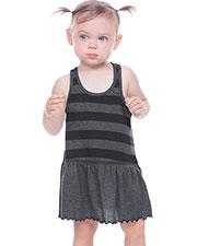 Infants Girls Striped Jersey Scoop Neck Racer Back Tank Dress at GotApparel