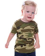Unisex Infants Camouflage Crew Neck Short Sleeve Tee at GotApparel