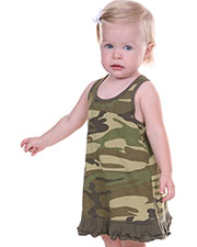 Infants Girls Camouflage A-Line Tank Dress at GotApparel