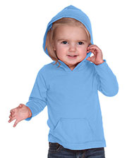 Infants Jersey RawEdge High Low Long Sleeve Hoodie w.Pouch at GotApparel