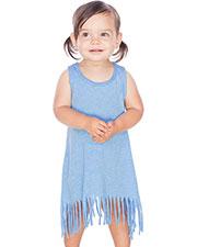 Infants Sheer Jersey Raw Edge Fringe Asymmetrical Tank Dress at GotApparel
