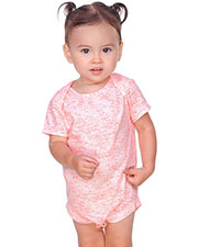 Infants Static Jersey Print Lap Shoulder Short Sleeve Onesie at GotApparel