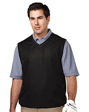 Tri-Mountain J2612 Men's Legend V-Neck Vest With 2 Zip Slash Pockets & Elastic Bottom at GotApparel