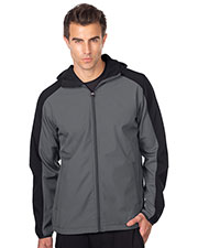 Tri-Mountain J6355 Men Bonded Soft Shell Hooded Jacket at GotApparel