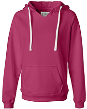 J America J8836  Ladies' Sydney Brushed V Pullover Hood at GotApparel