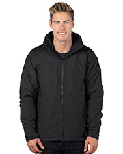 Tri-Mountain J8850 Men Hooded Honeycomb Poly/Fleece Jacket at GotApparel