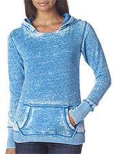 J America J8912  Ladies' Zen Fleece Pullover Hood at GotApparel