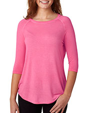 J America J8232 Women Oasis Wash 3/4-Sleeve Tee at GotApparel