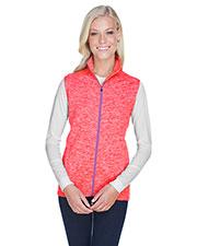 J America JA8625 Women 7.0 oz Lasic Cosmic Fleece Vest at GotApparel