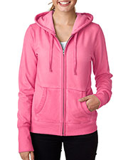J America J8665 Women Oasis Wash Full Zip Hooded Fleece at GotApparel