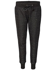 J America JA8675 Women Melange Fleece Jogger Pant at GotApparel