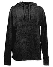 J America JA8680 Women Teddy Fleece Scuba Hoodie at GotApparel