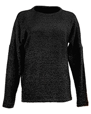 J America JA8681 Women Teddy Fleece Crew at GotApparel