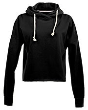 J America JA8684 Women Lounge Fleece Hi-Low Hoodie at GotApparel