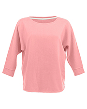 J America JA8685 Women Lounge Fleece Dolman Crew at GotApparel