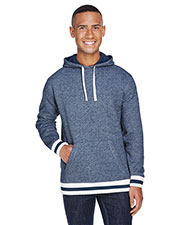 Adult Peppered Fleece Lapover Hood at GotApparel
