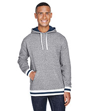 J America JA8701 Men Peppered Fleece Lapover Hood at GotApparel