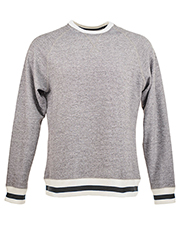 J America JA8702 Men Peppered Fleece Sweatshirt at GotApparel
