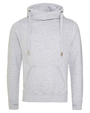 Just Hoods By AWDis JHA021 Men Cross Over Neck Hooded Sweatshirt at GotApparel