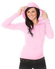 Junior Long Sleeve Pullover Hoodie at GotApparel