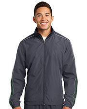 Sport-Tek JST61 Men Piped Colorblock Wind Jacket at GotApparel