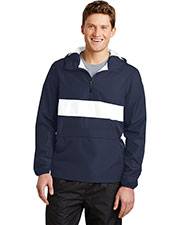 Sport-Tek JST65 Men Zipped Pocket Anorak at GotApparel