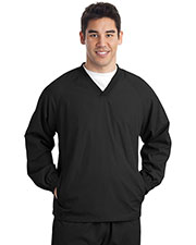 Sport-Tek JST72 Men V-Neck Raglan Wind Shirt at GotApparel